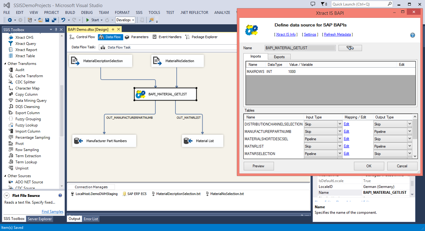 ECS Designer Integration Visual Studio