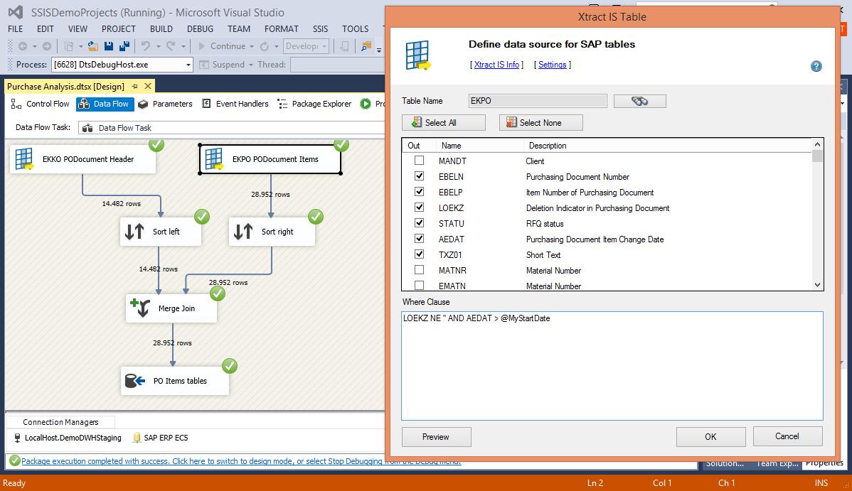 ECS Designer Integration Visual Studio